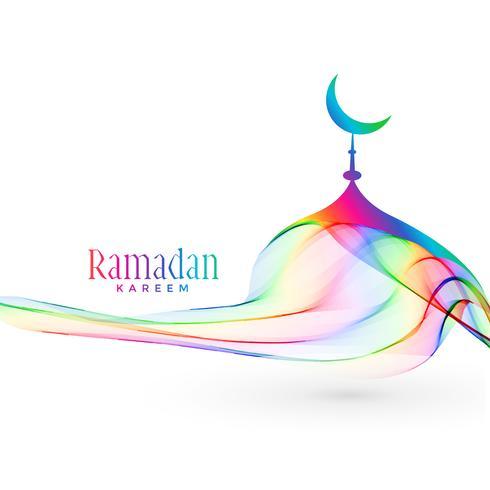 colorful creative mosque design for ramadan kareem season