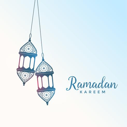 hanging islamic style lantern for ramadan kareem