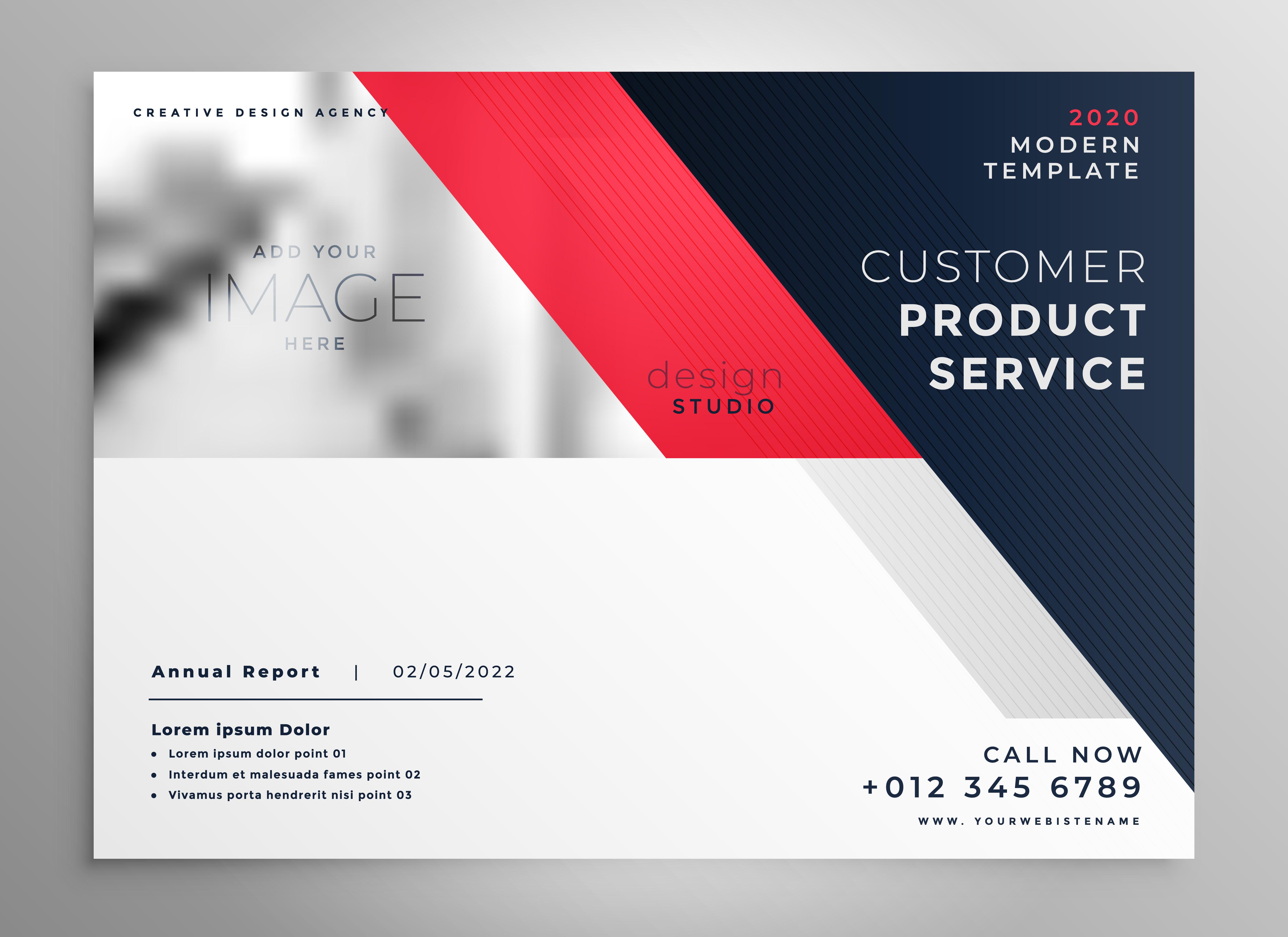 creative modern business flyer design template