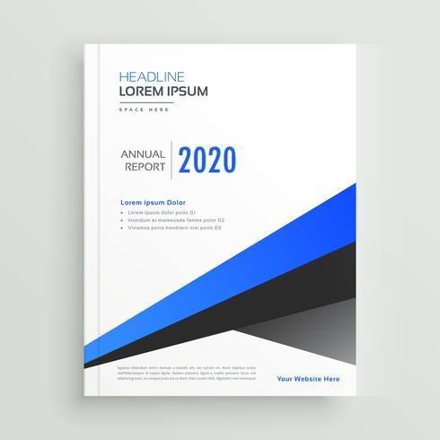 modelo de vetor de design de brochura geométrica