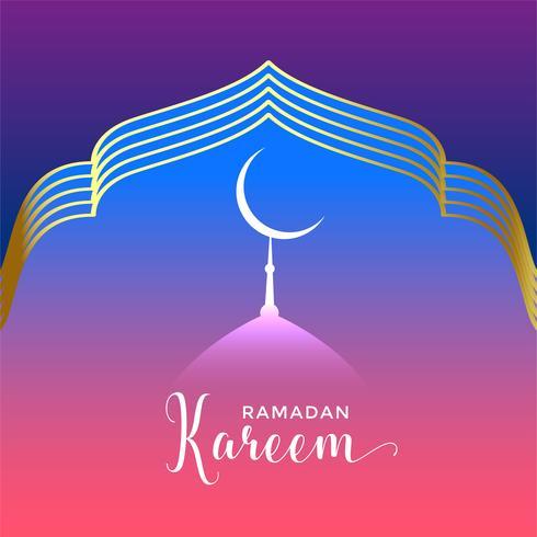 beautiful ramadan kareem seasonal background