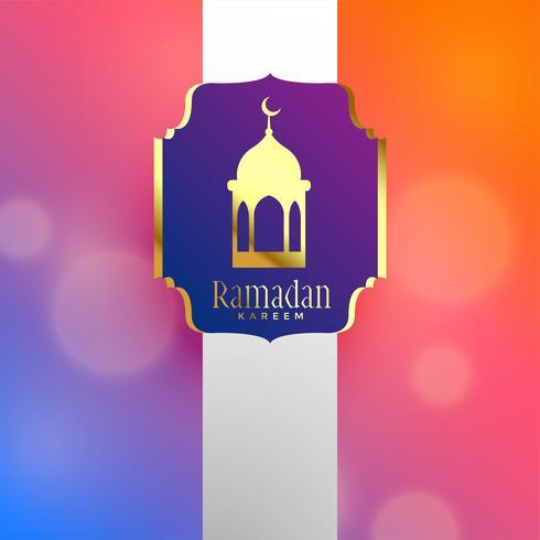ramadan kareem belo design de saudação de luxo