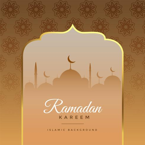 beautiful ramadan kareem islamic greeting background