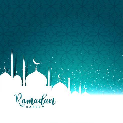 Ramadan Kareem Festivalgruß mit Textraum