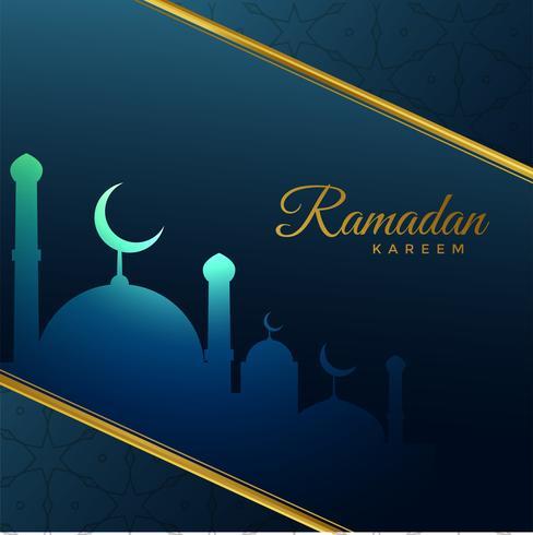 Ramadã kareem festival saudação em estilo criativo
