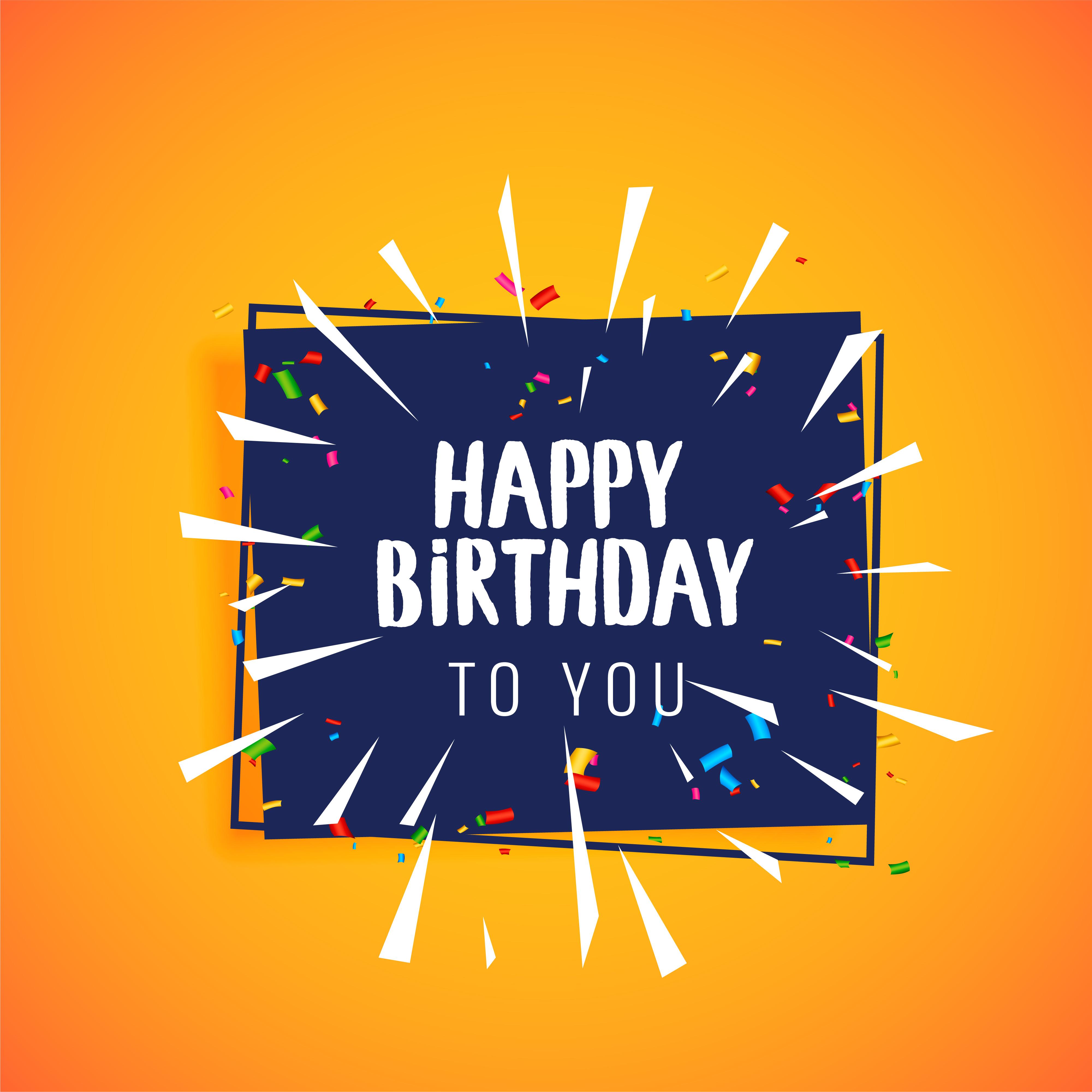 happy birthday celebration greeting card design  download