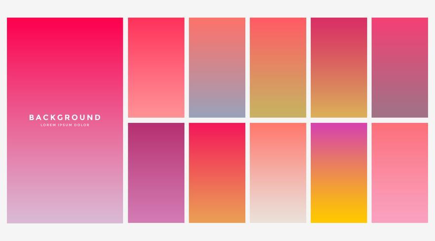 coleção vibrante de gradientes para aplicativos móveis
