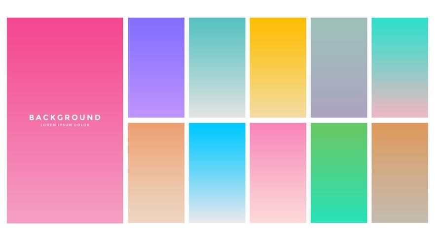 colorful soft gradients set for mobile app