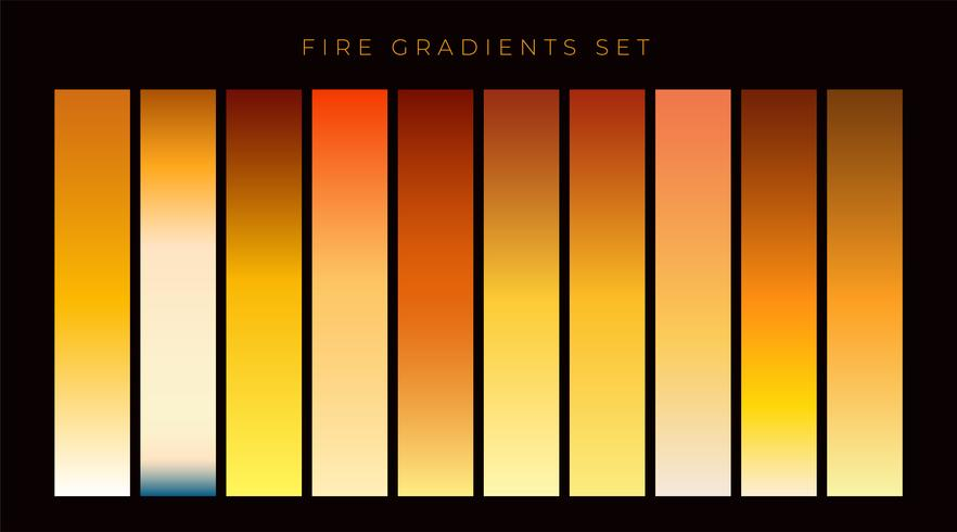 collection of fire gradient swatches