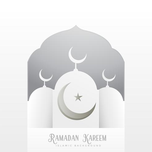 ramadan kareem greeting design in clean white style