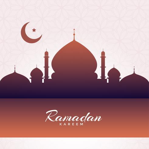 Fondo della siluetta della moschea di Eid Mubarak