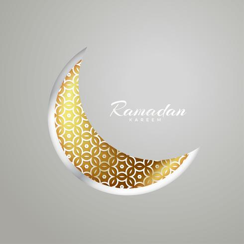 creative moon design for ramadan kareem festival