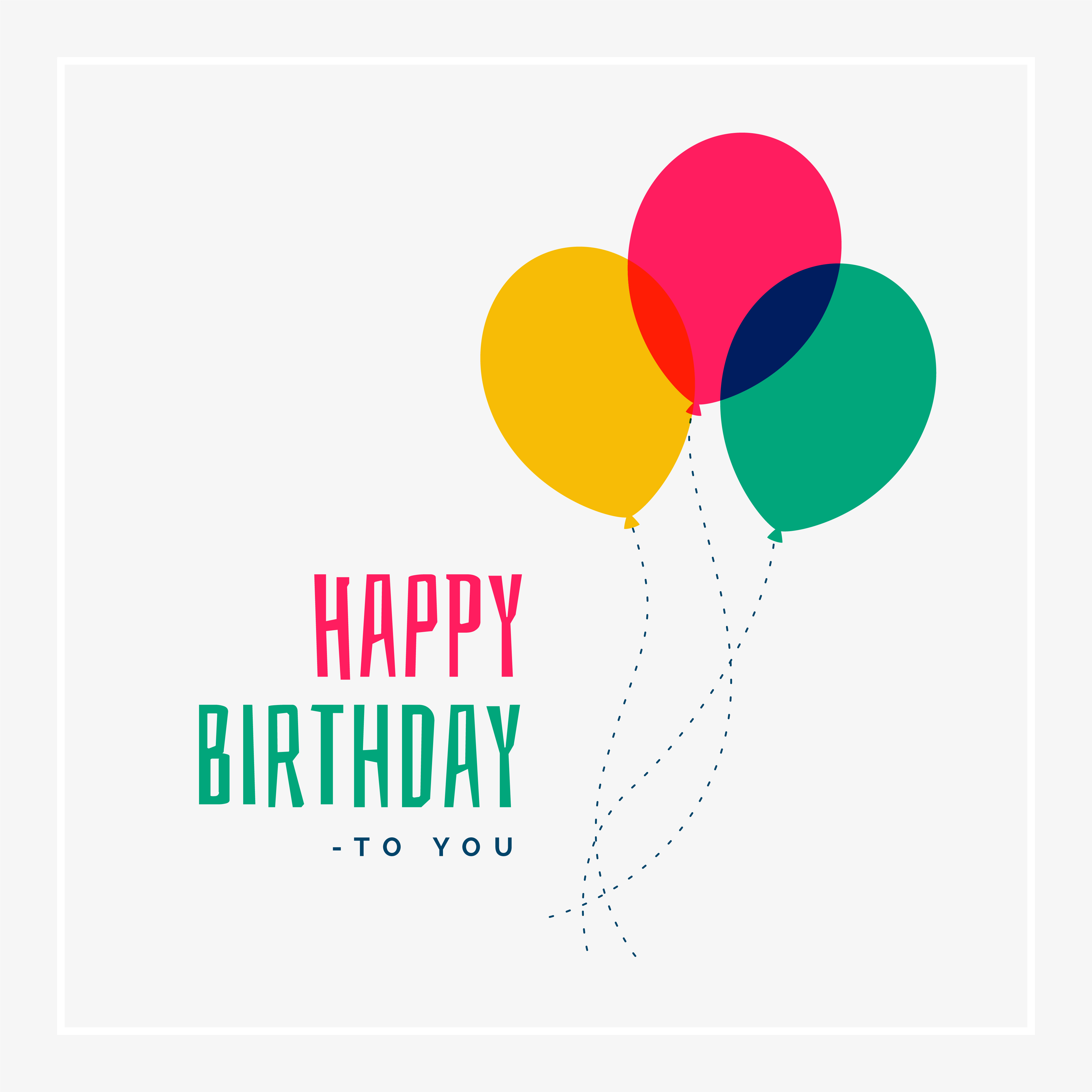 Simple Happy Birthday Greeting Design Download Free