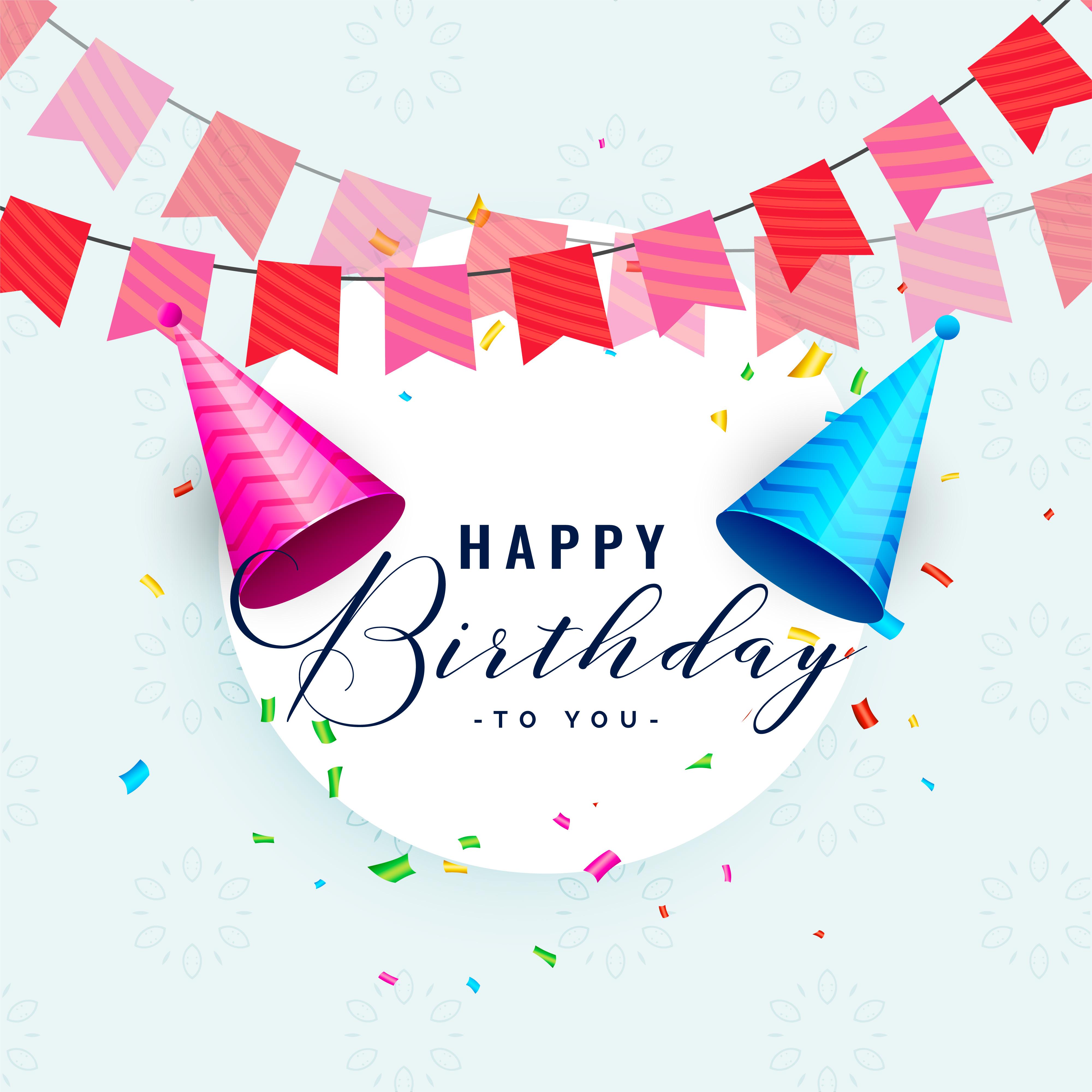 Happy Birthday Party Celebration Card Design