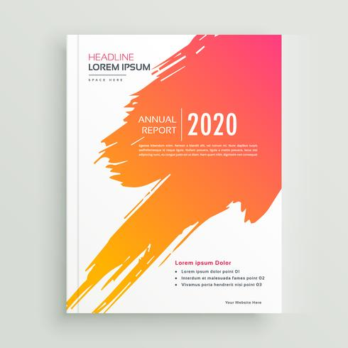 conception de brochure de course de peinture orange créative