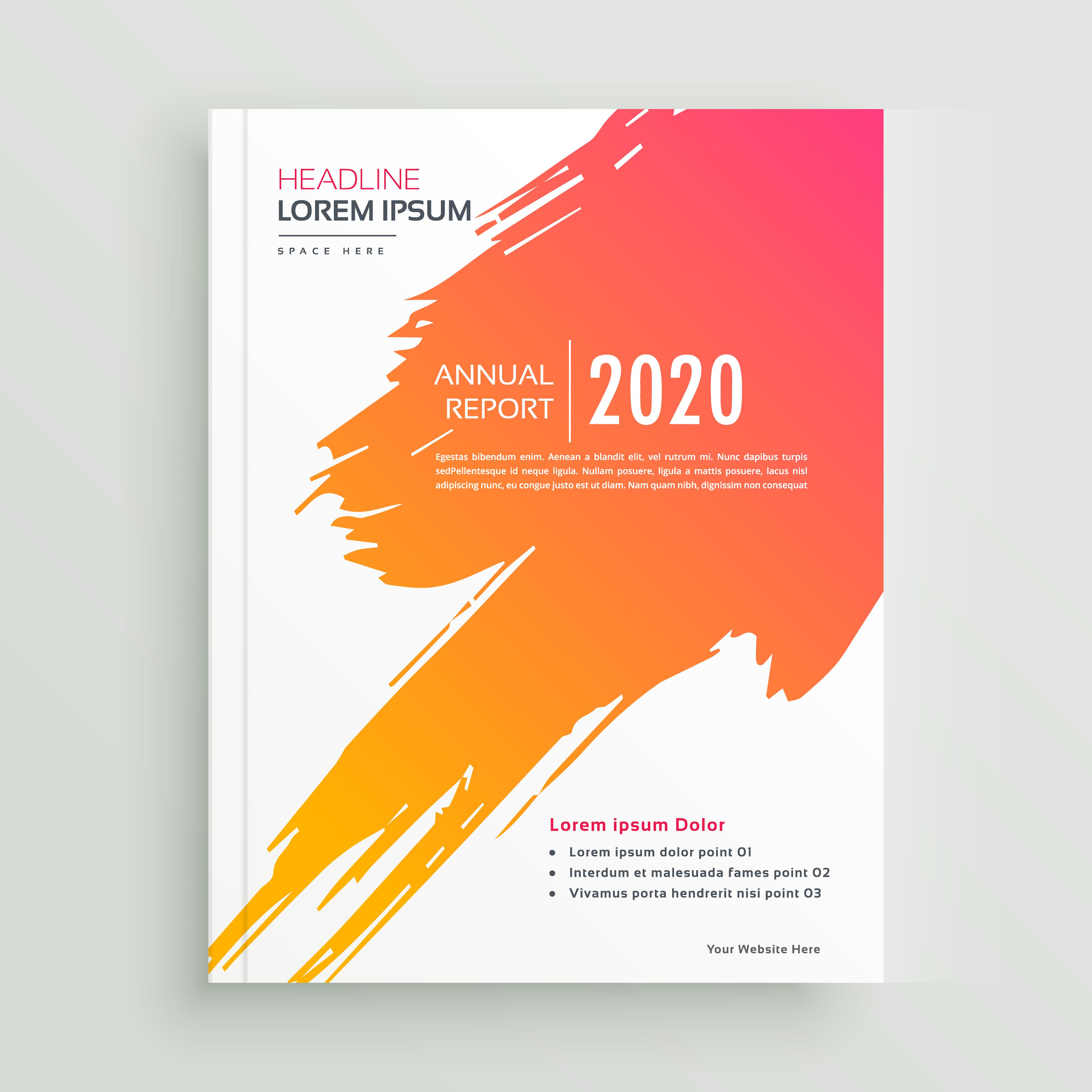 Creative Orange Paint Stroke Brochure Design Download