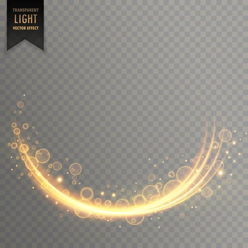 stylish decorative golden light effect with sparkles background