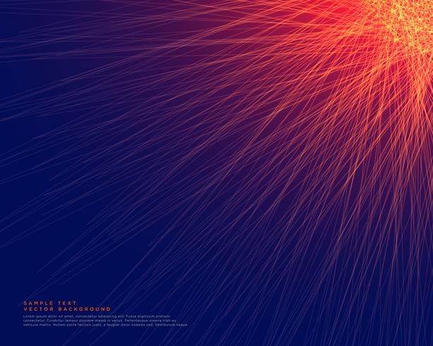 abstract blue background with glowing red lines