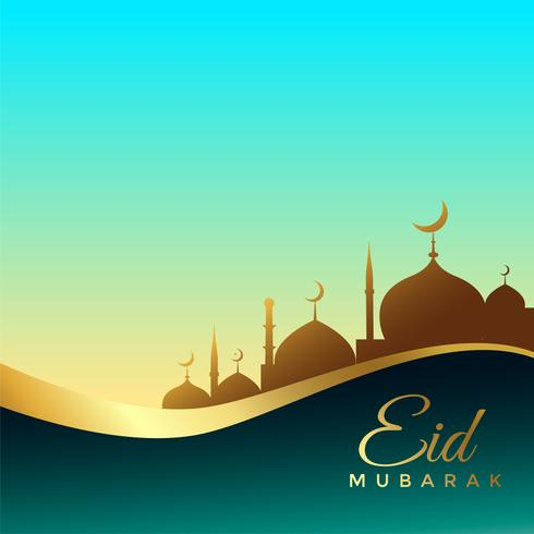 beautiful eid mubarak background design