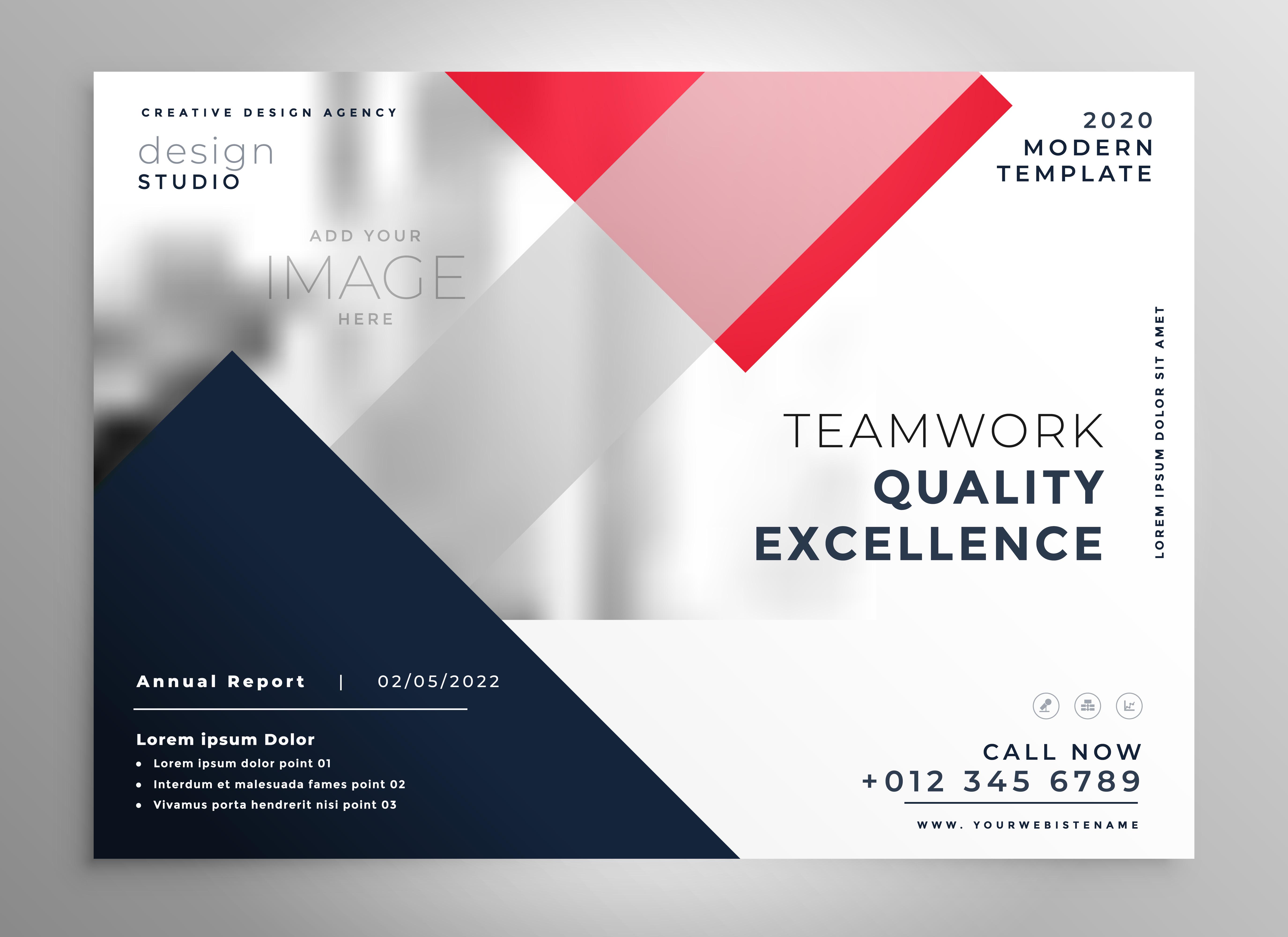 modern business flyer brochure template design