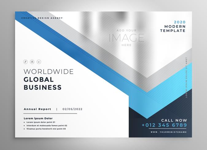 professional blue business flyer cover template