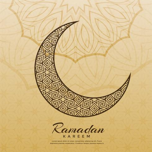 islamic moon design for ramadan kareem season