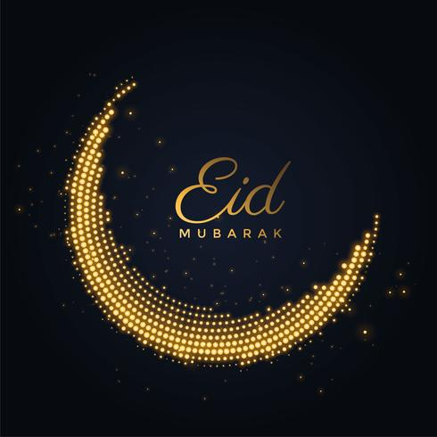 creative shiny eid mubarak moon design
