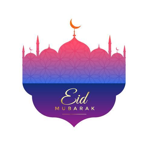 creative mosque design for eid festival