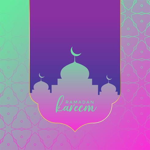fond de voeux vintage créatif ramadan kareem