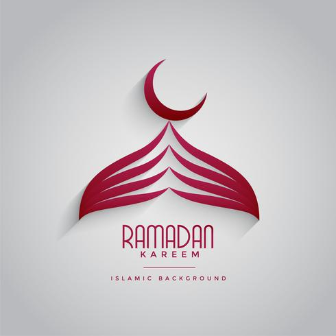 creative mosque design for ramadan kareem festival