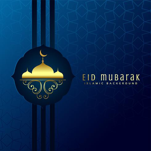 beautiful eid mubarak design background
