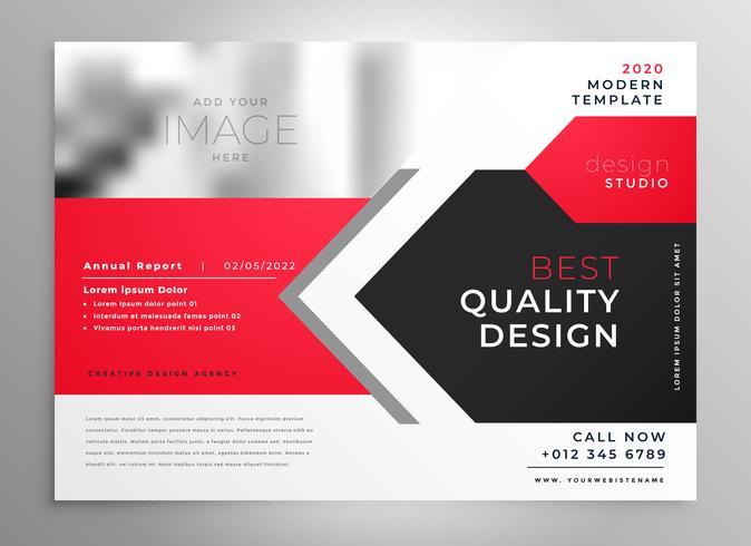 creative business flyer in red black design