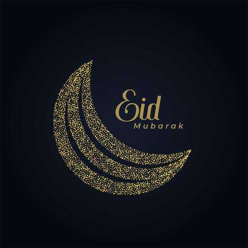 creative eid festival moon made with dots