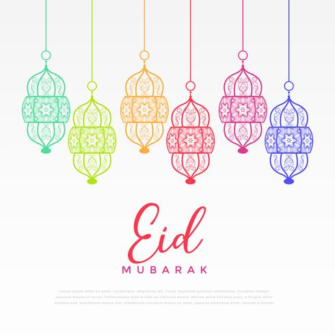 colorful hanging lantern for eid festival