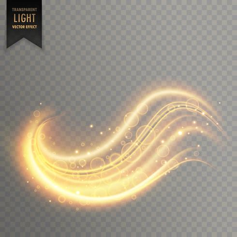 wavy golden transparent light effect