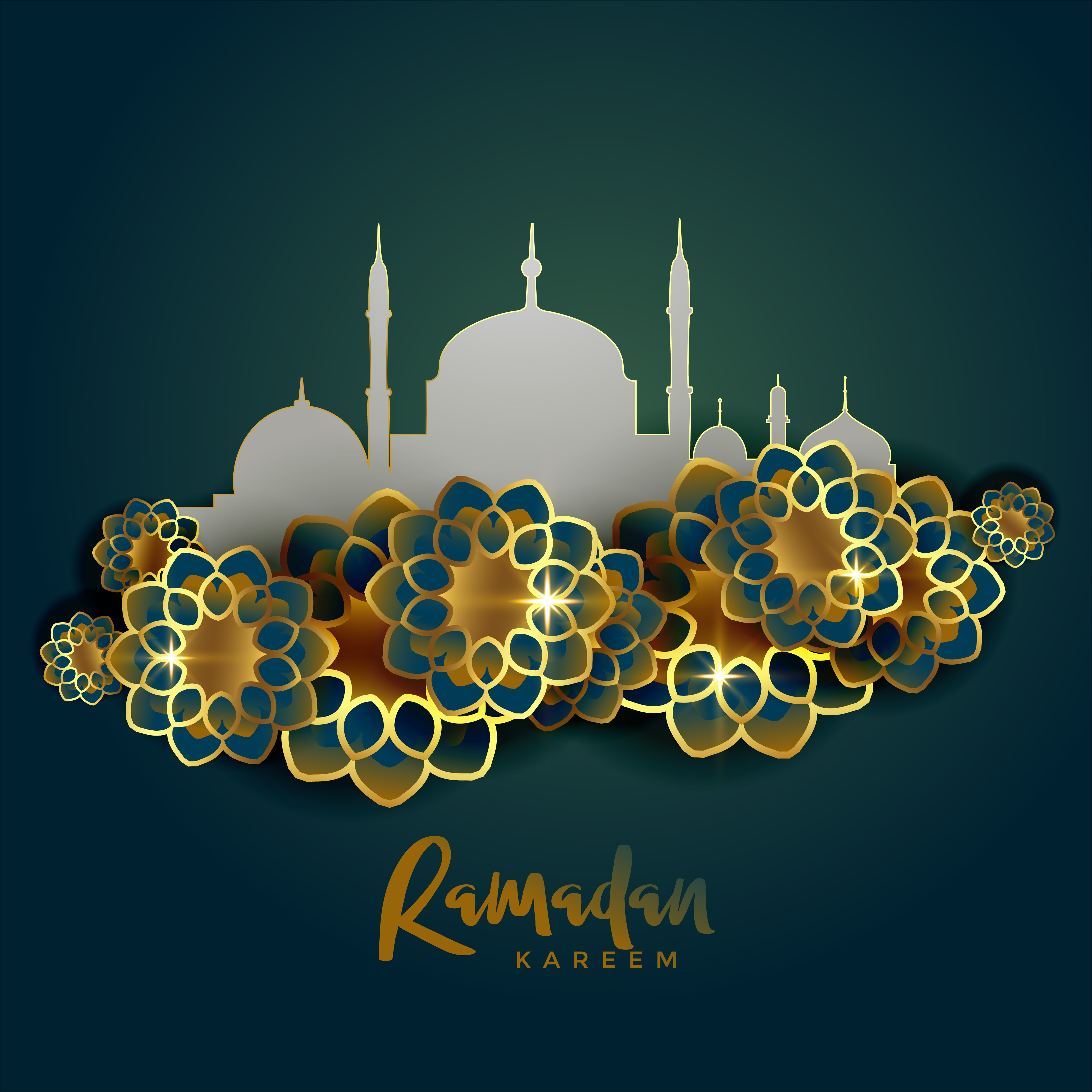 Ramadan Kareem Islamic Greeting Background Download Free Vector
