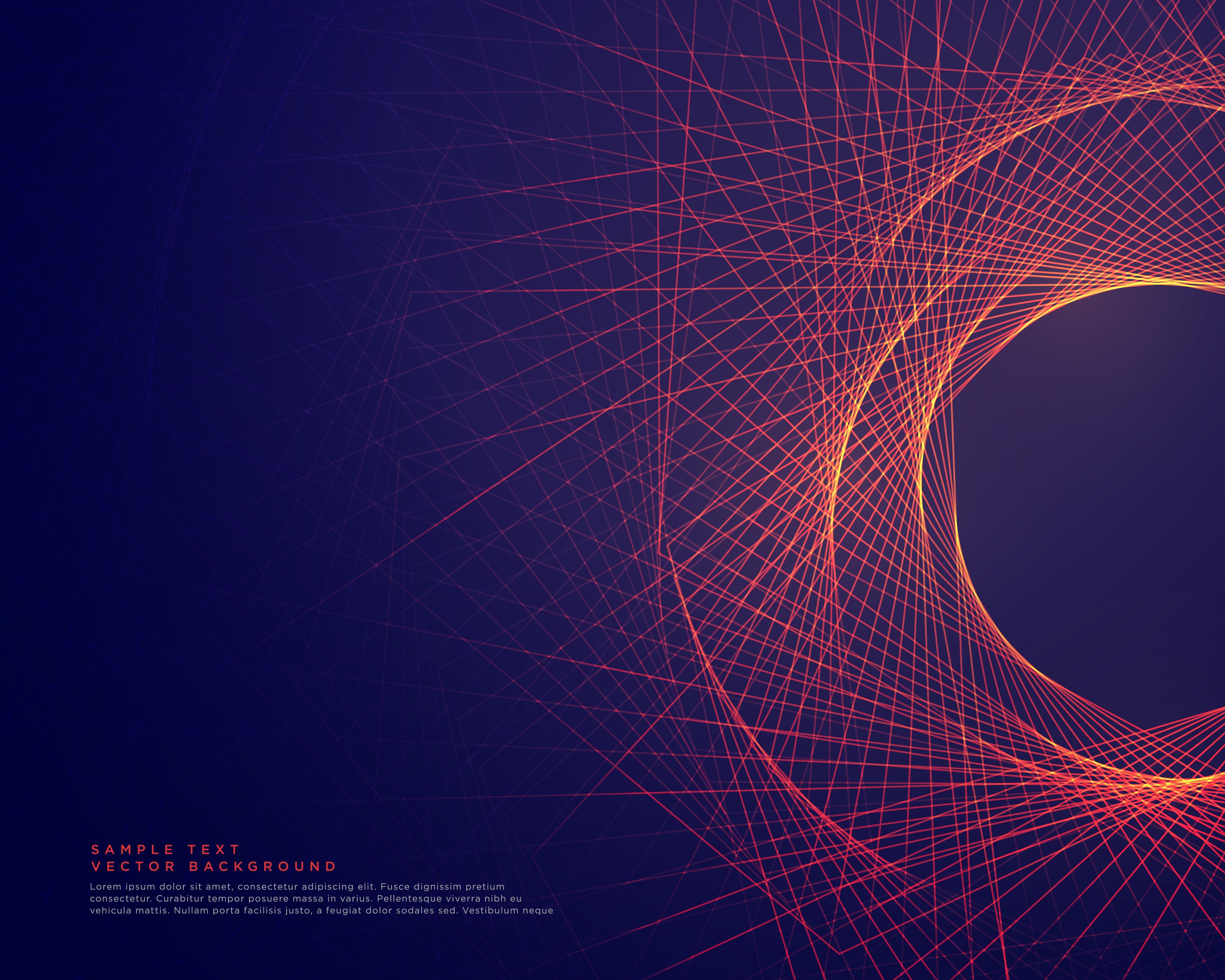 Vector Drawing Lines Examples : Abstract lines forming tunner shape background download
