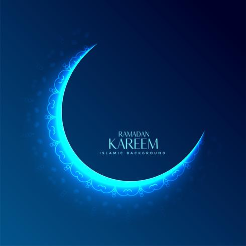 glowing decorative moon design for ramadan kareem