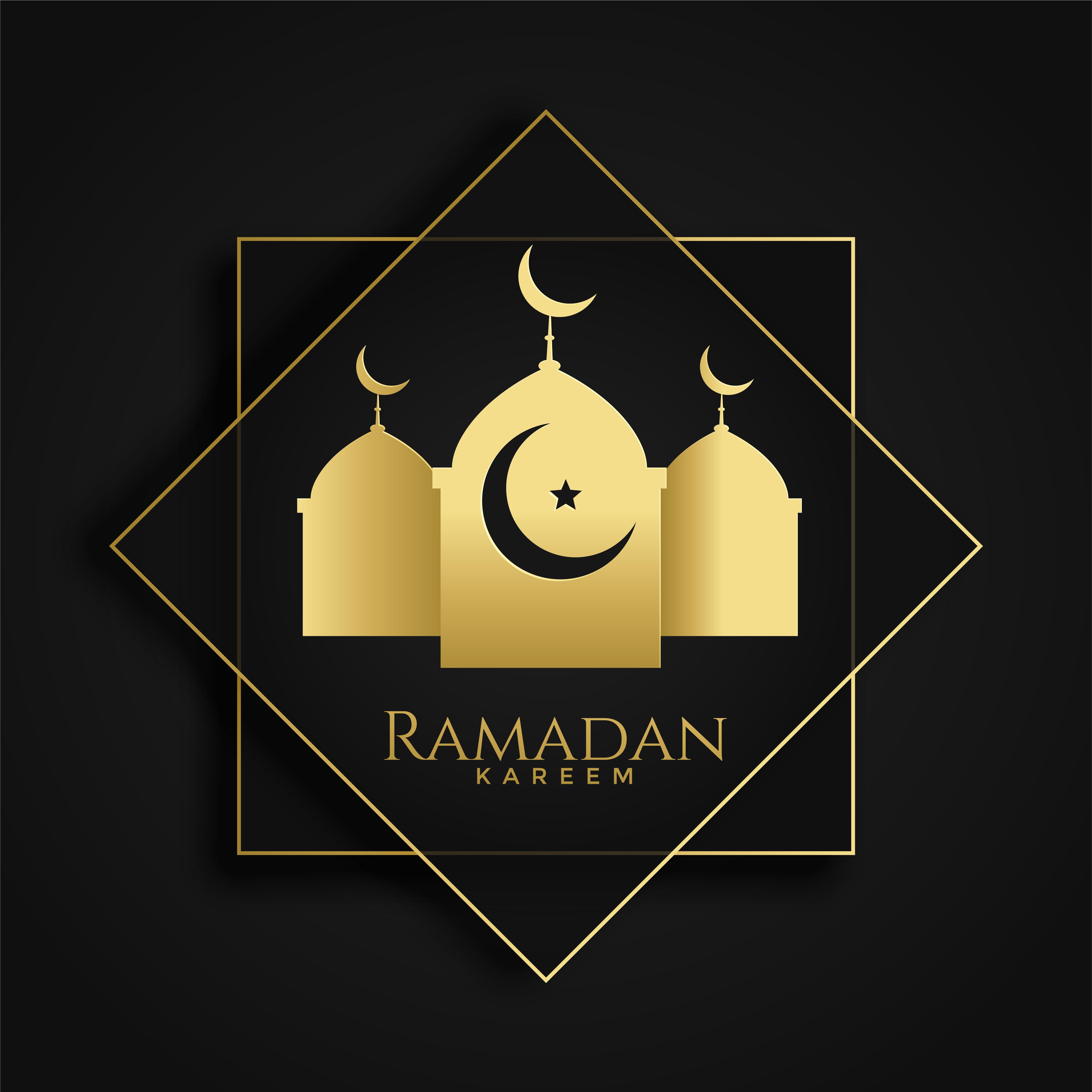 Ramadan Kareem Islamic Greeting With Mosque Silhouette Download