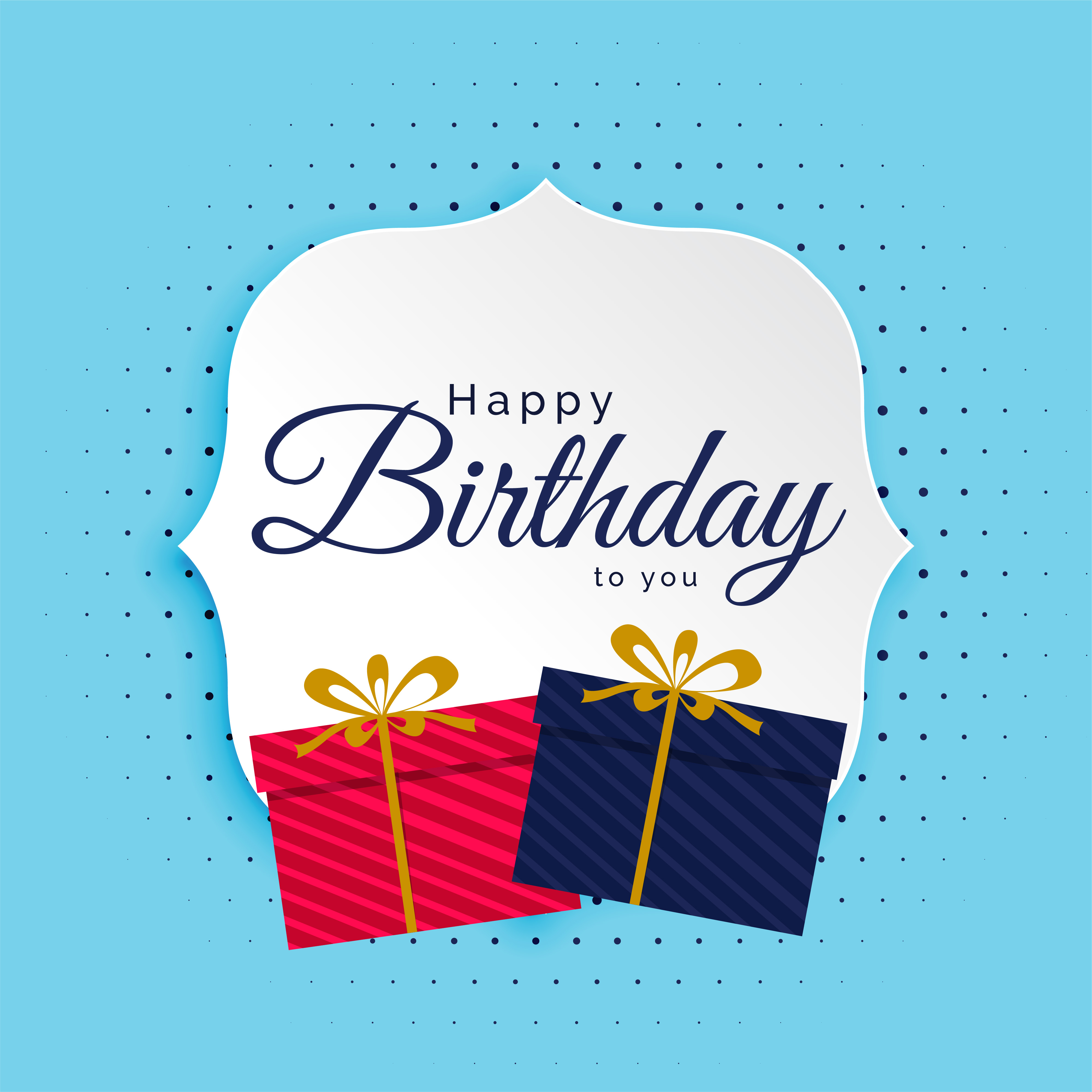 Happy Birthday Background With Gifts Boxes
