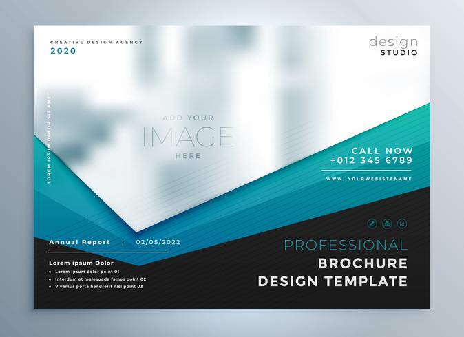 modern business brochure presentation vector template