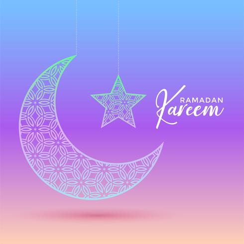creative moon and star design for ramadan kareem and eid festiva