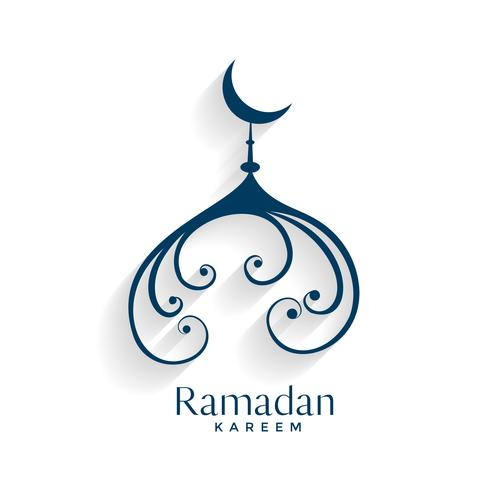 creative mosque design vector ramadan kareem background