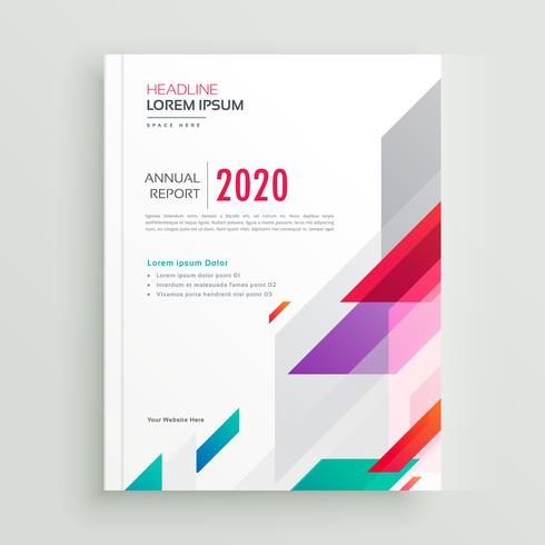 creative geometric vibrant brochure template
