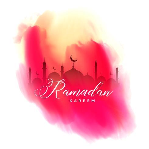 ramadan kareem watercolor background design