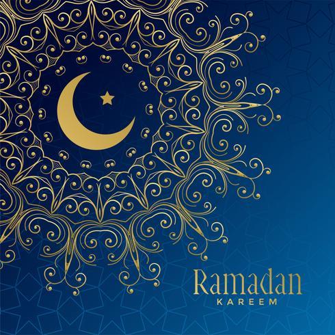 Ramadan Kareem belo fundo ornamental