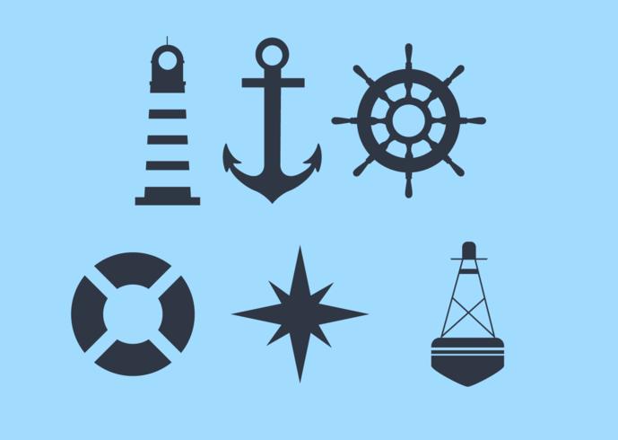 Simbolismo de un crucero vector