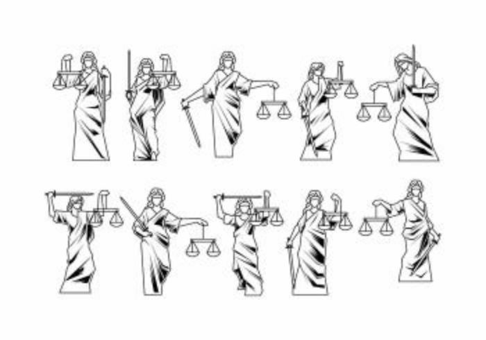 Vector de justicia de dama