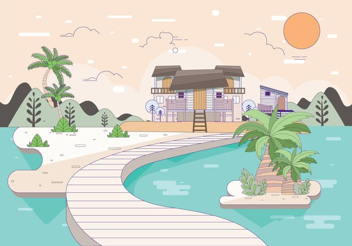 beach resort illustration vol 2 vektor
