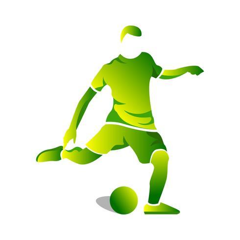 Ilustração abstrata simples do jogador de futebol